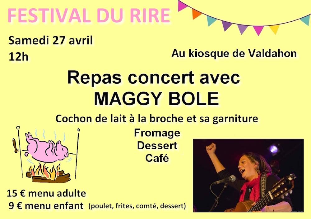 Repas concert avec Maggy Bole à 12h au kiosque de Valdahon.